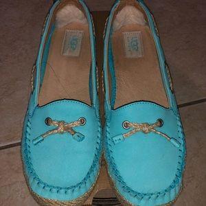 UGG Chivon Slippers Blue Curacao